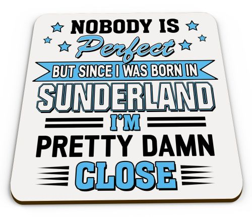 Personalised Nobody Is Perfect But Since I was Born In... Funny Glossy Mug Coaster Variation